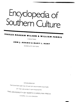 Encyclopedia of Southern Culture