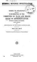 Internal Revenue Investigation PDF