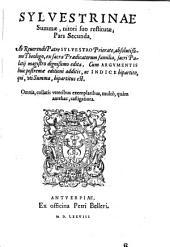 Summa Summarum, quae Sylvestrina dicitur: Volume 2
