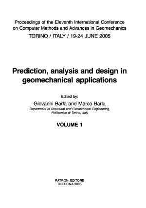 Prediction  Analysis and Design in Geomechanical Applications PDF