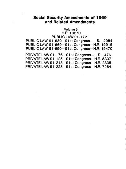 Amendments to the Social Security Act  1969 1972 PDF