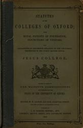 Statutes of the Colleges of Oxford PDF