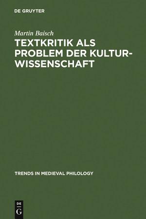 Textkritik als Problem der Kulturwissenschaft PDF