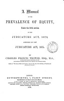 A Manual of the Prevalence of Equity PDF