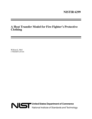 A Heat Transfer Model for Fire Fighter's Protective Clothing
