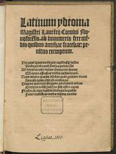 Latinum idioma