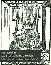Transactions of the Bibliographical Society: Volume 5