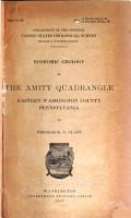 Economic Geology of the Amity Quadrangle  Eastern Washington County  Pennsylvania PDF
