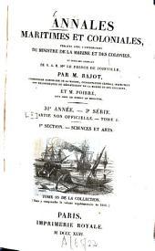 Annales maritimes et coloniales: Volume31