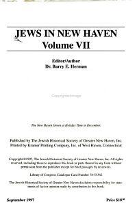 Jews in New Haven PDF