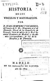 Historia de los vinculos y mayorazgos
