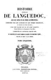 Histoire générale de Languedoc: avec des notes et les pièces justificatives, composée