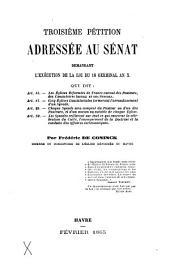 Troisième pétition adressée au Sénat demandant l'exécution de la loi du 18 germinal an X