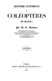 Histoire naturelle des Coléoptères de France...: Palpicomes. Lamellicones, Longicomes