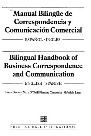 Bilingual Handbook of Business Correspondence and Communication