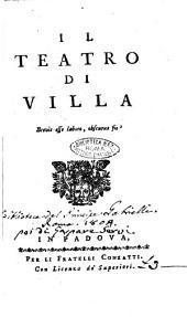 Il teatro di villa: Isacco al Monte sacra rappresentazione per la villa, Volume 1