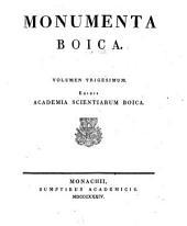 Monumenta Boica: Band 30