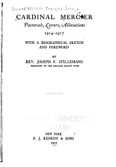 Pastorals, Letters, Allocutions, 1914-1917: With a Biographical Sketch and Foreword