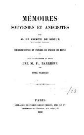 Mémoires, souvenirs et anecdotes: Volume19
