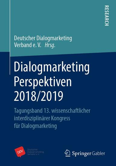 Dialogmarketing Perspektiven 2018 2019 PDF