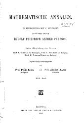 Mathematische Annalen: Volume 22