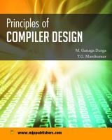 PRINCIPLES OF COMPILER DESIGN PDF