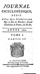 Journal encyclopedique ou Universel: Volume1,Partie3