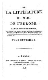 De la littérature du midi de l'Europe: 4
