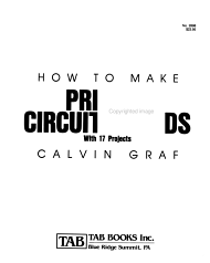 How to Make Printed Circuit Boards  with 17 Projects PDF