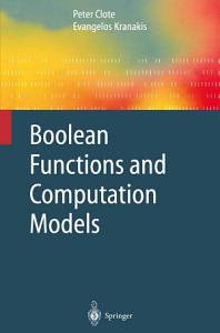 Boolean Functions and Computation Models PDF