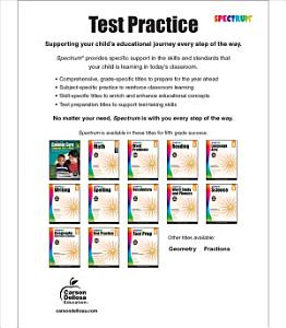 Spectrum Test Practice  Grade 5 PDF