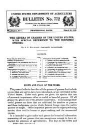 The Genera of Grasses of the United States: With Special Reference to the Economic Species