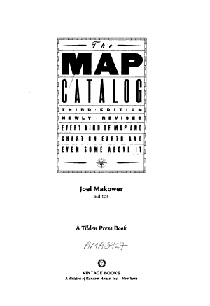 The Map Catalog