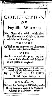 A collection of English words not generally used  with their significations and original  With catalogues of English birds and fishes   c    PDF