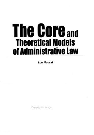 The Core and Theoretical Models of Administrative Law PDF