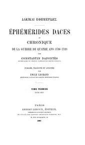 Dakikai ephēmerides: Texte grec