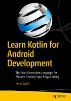 Learn Kotlin for Android Development PDF
