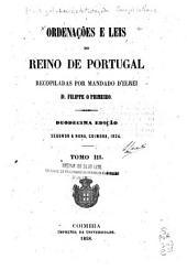 Ordenações e leis do reino de Portugal: Volume 3
