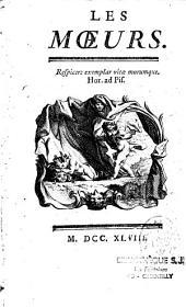 Les Moeurs... (par Fr. V. Toussaint)