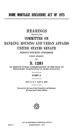 Home Mortgage Disclosure Act of 1975 PDF