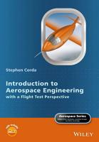 Introduction to Aerospace Engineering with a Flight Test Perspective PDF