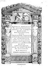 Regole generali di architetvra sopra le cinqve maniere degli edifici ... con gli essempi dell'antiqvita, che per la magior parte concordano con la dottrina di Vitrvvio