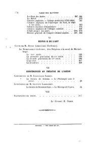 Revue des cours et conférences