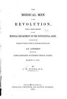 The Medical Men of the Revolution  with a Brief History of the Medical Department of the Continental Army PDF