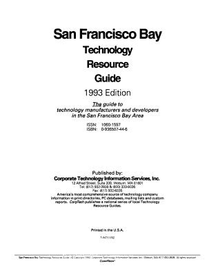 San Francisco Bay technology resource guide