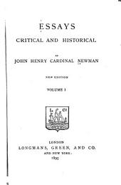 Essays, Critical and Historical: Volume 1