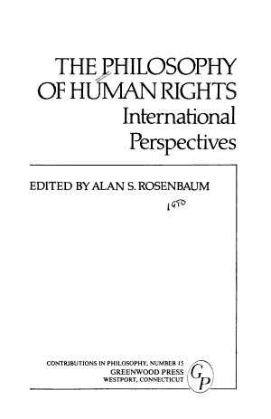 The Philosophy of Human Rights PDF