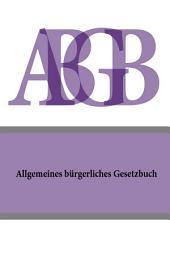 Allgemeines burgerliches Gesetzbuch (ABGB) 2016