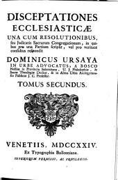 Disceptationes ecclesiasticae: Volume 2
