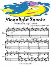 Moonlight Sonata First Movement Adagio Sostenuto - Easy Piano Sheet Music Junior Edition